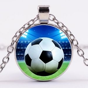 Jewelry - Necklace- NEW- Sports Soccer Ball Games Kids